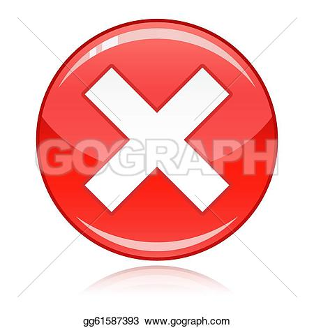 Red Cross clipart allowed Not Stock button Clipart on