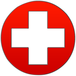 Red Cross clipart allowed Symbol cross Round image cross