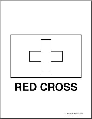 Red Cross clipart black and white Clip Flags: Cross Red com