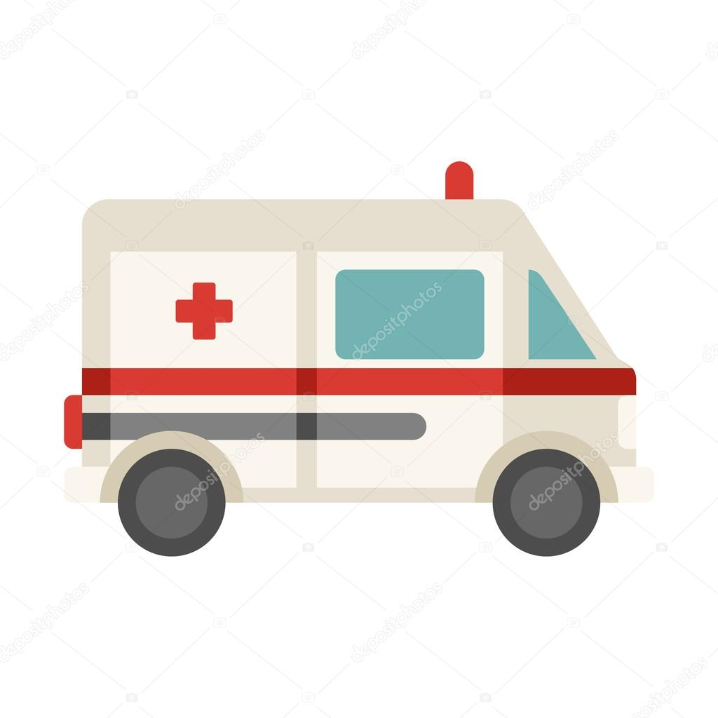 Red Cross clipart car Illustration isolated Stock Coloured