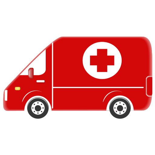 Red Cross clipart car Icon 16×16 Myiconfinder  Ambulance