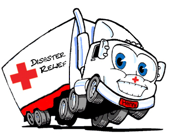 Red Cross clipart cartoon Disaster truck cartoon disaster truck