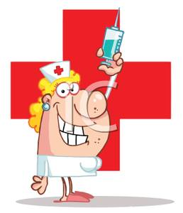 Red Cross clipart cartoon A of  a Nurse