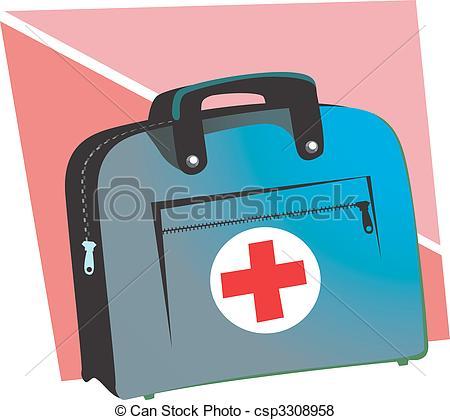 Red Cross clipart doctor bag Illustration doctor's  Illustration symbol