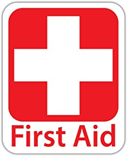 Red Cross clipart first aid box Sticker Personal Sign Amazon #10