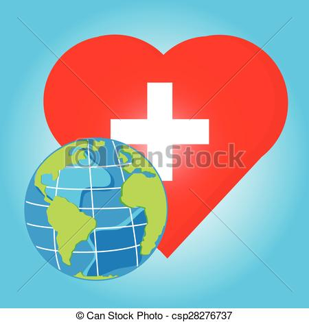 Red Cross clipart health Red World and  Vector