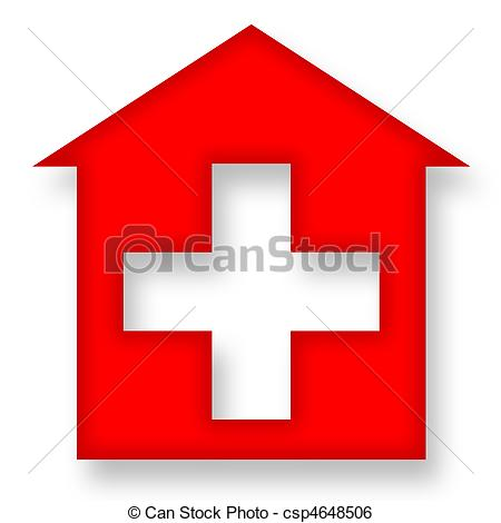 Red Cross clipart hospital symbol House Illustration csp4648506 with