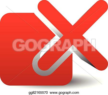 Red Cross clipart incorrect Incorrect delete Drawing over remove