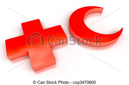 Red Cross clipart medical clinic Red Cross csp3470600 quality Crescent