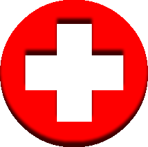 Red Cross clipart medical sign Round cross red symbol red