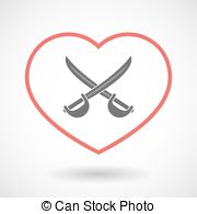 Red Cross clipart paramedic Heart  line Vector