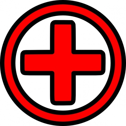 Red Cross clipart round  Symbol Download Free Cross