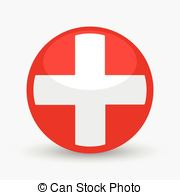 Red Cross clipart round Icon medical vector of shape