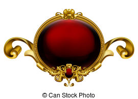 Red Cross clipart round Clip of frame Vintage Round