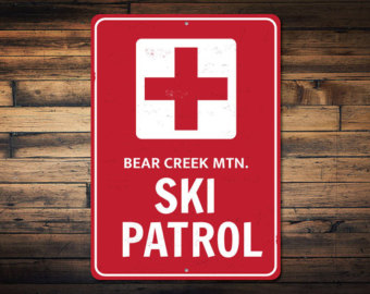Red Cross clipart ski patrol Patrol Cross signs Lodge Etsy