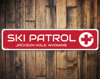 Red Cross clipart ski patrol Patrol Sign signs Custom Etsy
