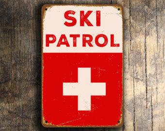 Red Cross clipart ski patrol Vintage Ski style Decor Patrol