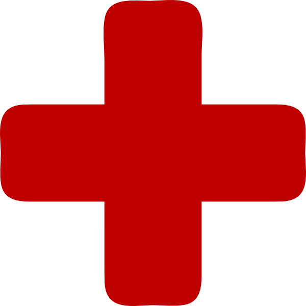 Red Cross clipart small Medical · vector Clker Cross