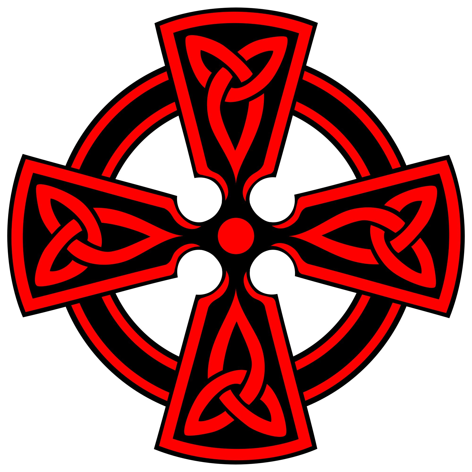 Red Cross clipart svg Red Open decorative Cross triquetras