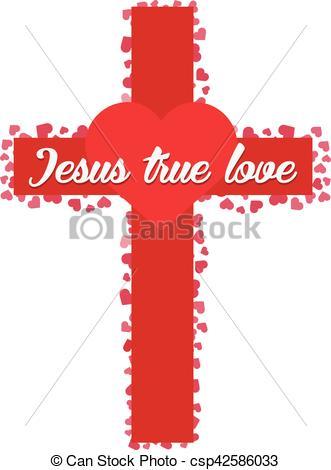 Red Cross clipart true Heart Vector Vector Jesus Vectors