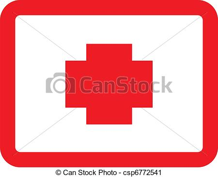 Red Cross clipart vector The red band Clip Vector