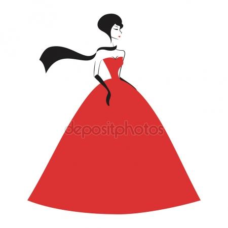 Red Dress clipart ball gown Ball gown Stock Ball gown