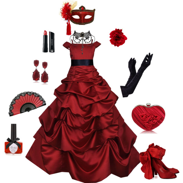 Red Dress clipart ball gown #gown Ballgown Polyvore #elegant Red