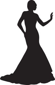 Red Dress clipart classy lady #11