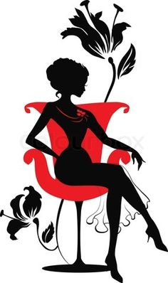 Red Dress clipart classy lady #8