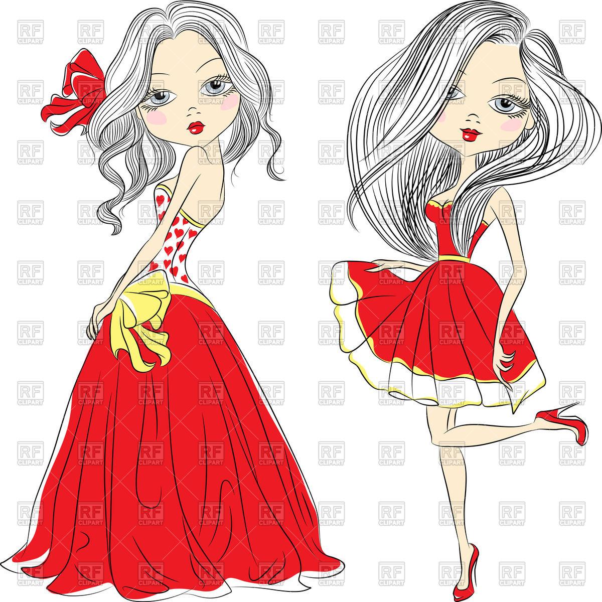 Red Dress clipart elegant dress Red red dress elegant girl