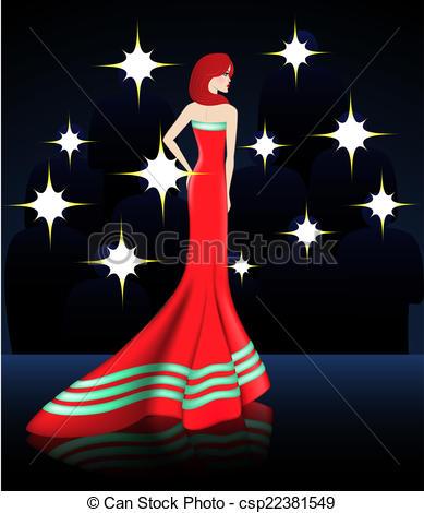 Red Dress clipart elegant dress Dress csp22381549 Red EPS Elegant