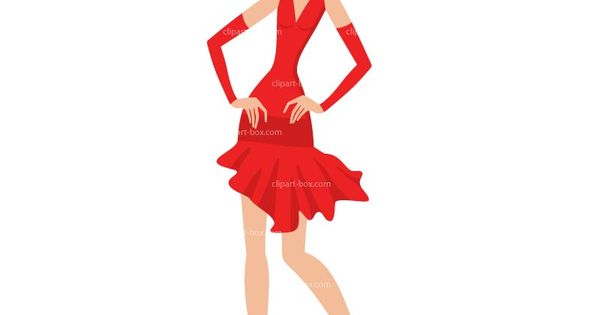 Red Dress clipart elegant dress Color Pinterest dress Clips