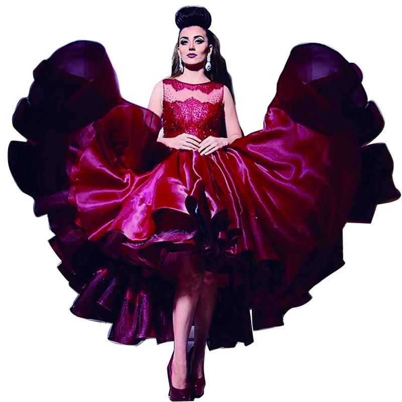 Red Dress clipart evening gown Kim  kaftan short dress