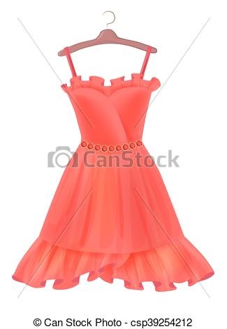 Red Dress clipart fancy clothes Of Clip clothing Red hanger