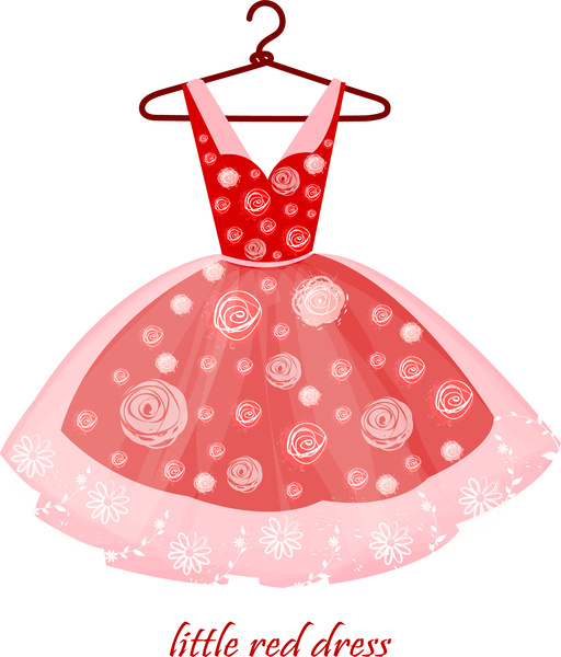 Red Dress clipart fancy clothes  realistic for little Dress