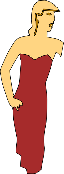 Red Dress clipart fashion dress Lady at Clker this vector