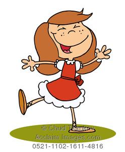 Danse clipart jig A of Girl Brunette Girl