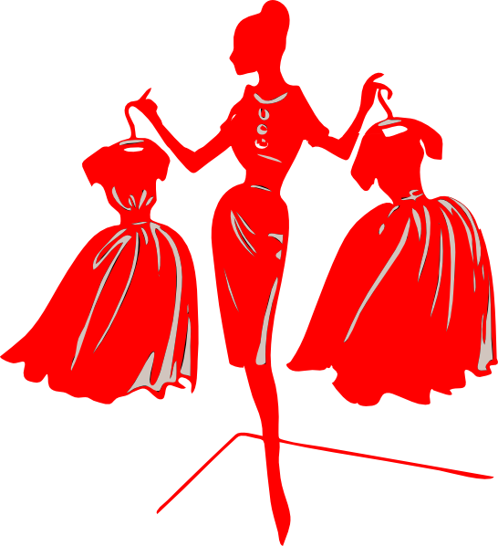Red Dress clipart for kid #10