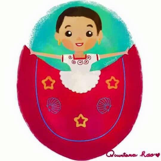 Red Dress clipart mexican dress Images Quintana · DressesMesoamericanDance 99