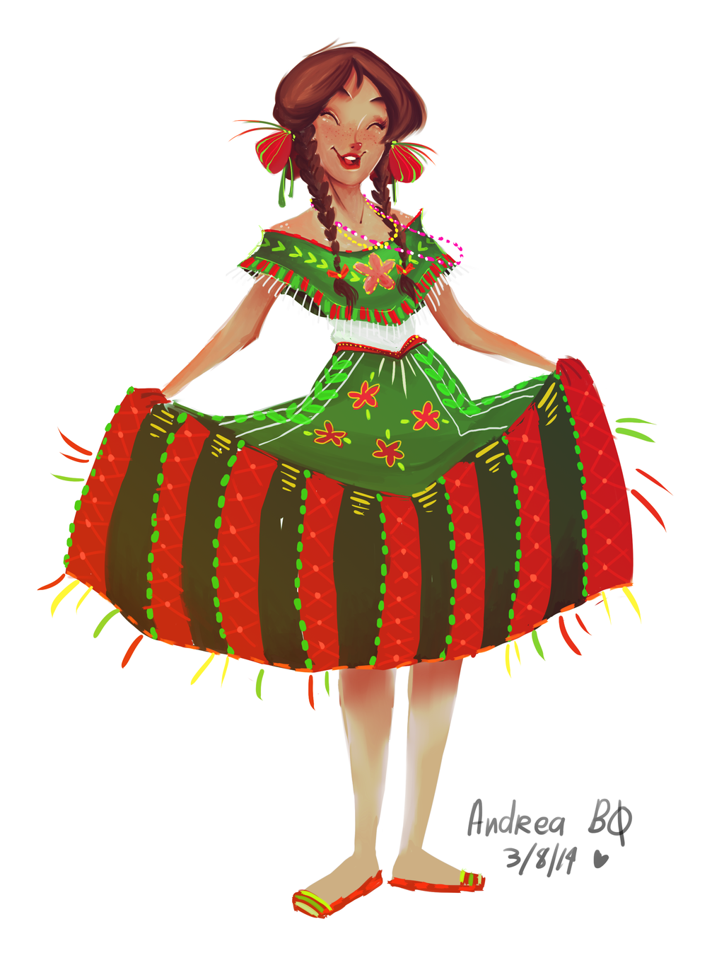 Red Dress clipart mexican dress Aveku by on dress chan