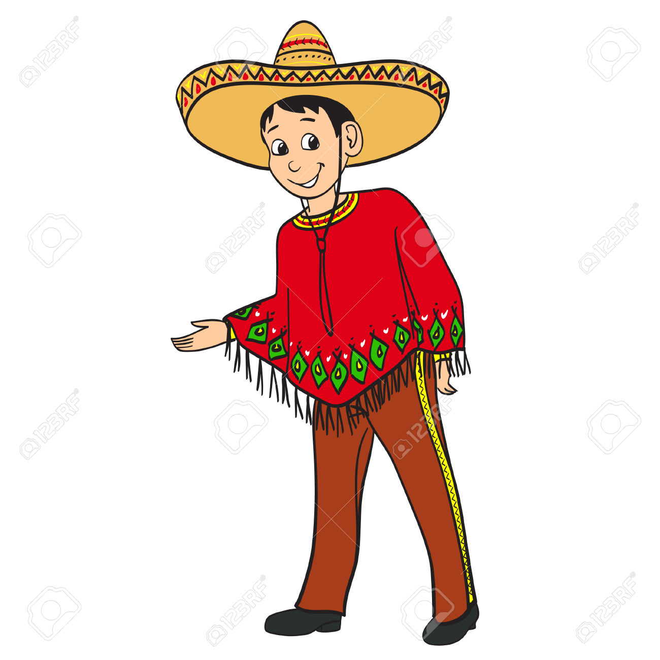 Red Dress clipart mexican dress Mexican In clipart Dressed Traditional