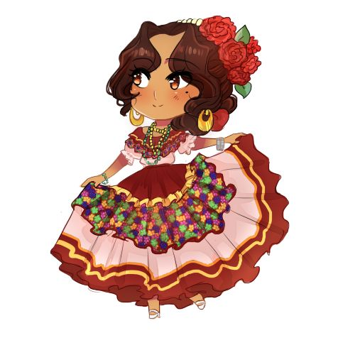 Red Dress clipart mexican dress On 1135 Dress about Regional
