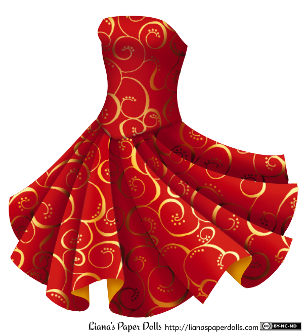 Red Dress clipart party dress And Party Dress Red Free