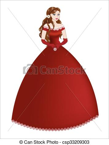Red Dress clipart princess dress Red the in  dress