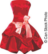 Red Dress clipart robe Dress EPS red image