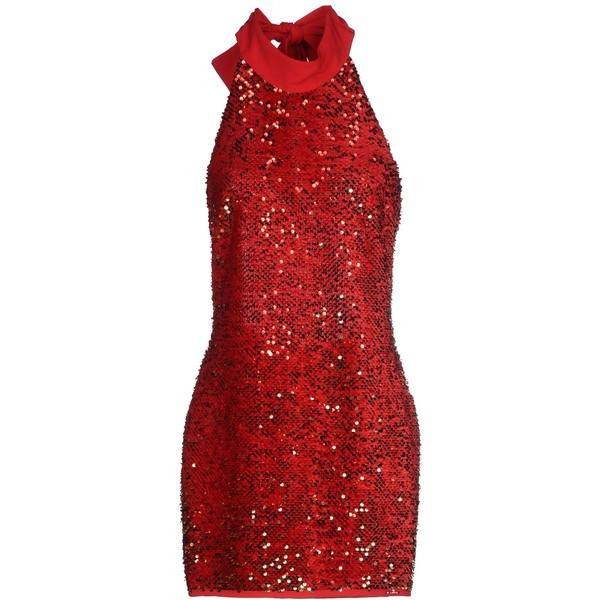 Red Dress clipart short dress Santucci liked ❤ ($125) dresses