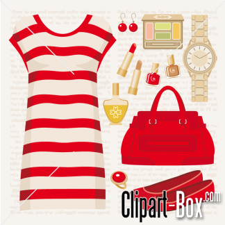 Red Dress clipart sleeveless CLIPART DRESS CLIPART FASHION