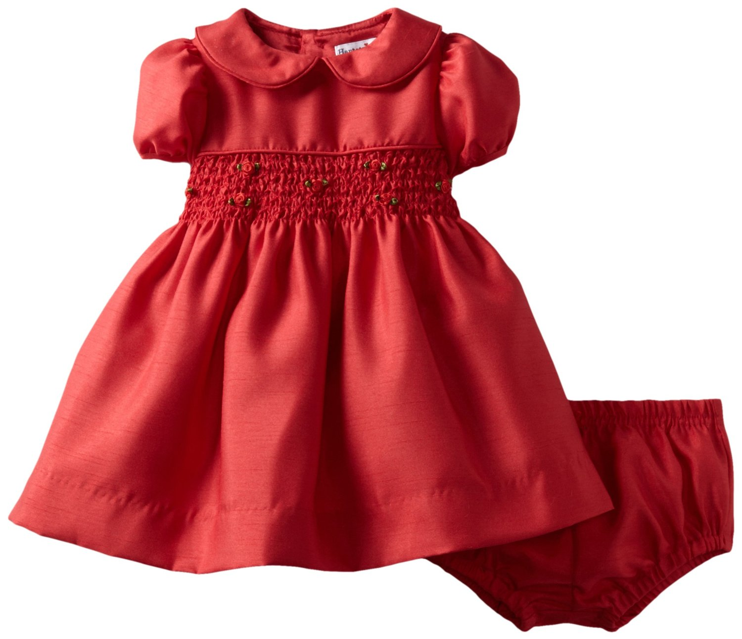 Red Dress clipart smocked Girl Cliparts Zone Diaper outfit