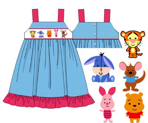 Red Dress clipart smocked ***Preorder*** Dress the  Disney