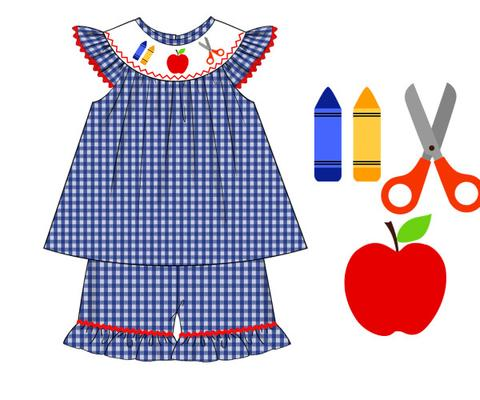 Red Dress clipart smocked Girls Shorts dresses Dresses Girls